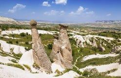 Vallée d'amour en parc national de Goreme Cappadocia Photos stock