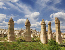 Vallée d'amour en parc national de Goreme Cappadocia, Photos libres de droits