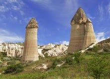 Vallée d'amour en parc national de Goreme Cappadocia Photo libre de droits