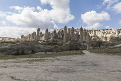 Vallée d'amour en parc national de Goreme Cappadocia Images libres de droits