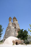 Vallée d'amour en parc national de Goreme Cappadocia, Turquie Images libres de droits