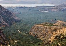 Vallée d'Amphissa en Grèce Photographie stock libre de droits