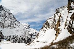 Vallée d'Annapurna Photographie stock libre de droits