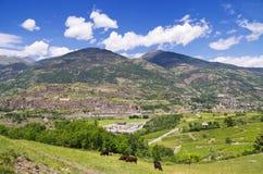 Vallée d'Aosta. l'Italie Image libre de droits