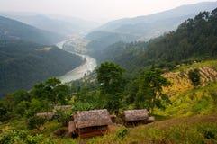 Vallée d'Arun - Népal Image libre de droits
