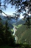 Vallée d'auberge, Tyrol Photographie stock libre de droits