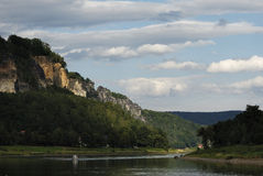 Vallée d'Elbe image libre de droits