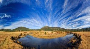 Vallée d'espoir, temps d'automne Photographie stock libre de droits