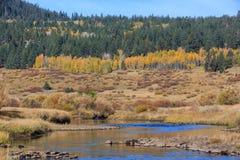 Vallée d'espoir, temps d'automne Images libres de droits
