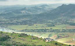 Vallée d'Ezulwini dans l'eSwatini du Souaziland image stock
