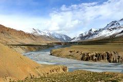 Vallée d'Indus dans Ladakh, Inde Image libre de droits