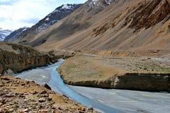 Vallée d'Indus dans Ladakh, Inde Images libres de droits