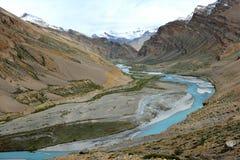 Vallée d'Indus dans Ladakh, Inde Photographie stock libre de droits