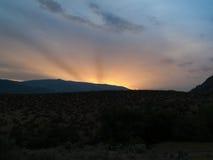 Vallée d'Okanagan au coucher du soleil photographie stock