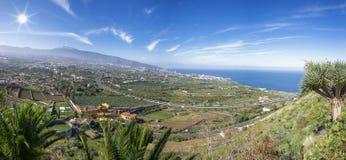 Vallée d'Orotava avec Teide dans Ténérife Image libre de droits