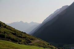 Vallée dans des alpes d'Otztal, Autriche Photos stock
