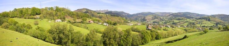 Vallée dans Gipuzkoa Photos stock