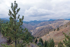 Vallée dans la montagne Photographie stock