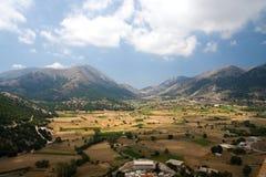 Vallée dans la partie moyenne de Crète, Grèce Photographie stock libre de droits