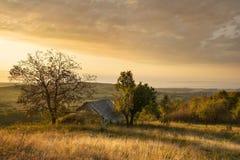 Vallée de Balaton et de Nivegy avec la cave au lever de soleil, Hongrie image stock
