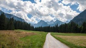 Vallée de Bielovodska en montagnes de Tatry Photos libres de droits