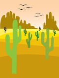 vallée de cactus illustration libre de droits