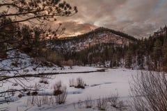 Vallée de canyon à l'aube Photographie stock libre de droits