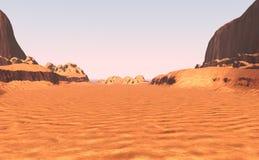 vallée de canyon du rendu 3D Images stock