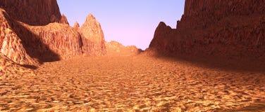 vallée de canyon du rendu 3D Image libre de droits