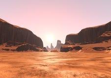 vallée de canyon du rendu 3D Photos libres de droits