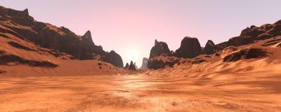 vallée de canyon du rendu 3D Photos stock