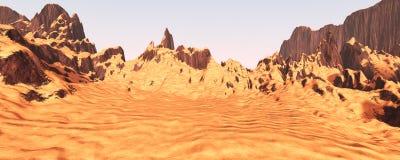 vallée de canyon du rendu 3D Image stock