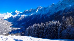 Vallée de Chamonix Photos stock