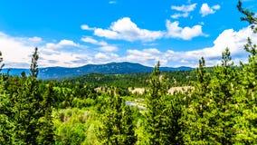 Vallée de Coldwater et les montagnes de côte en Colombie-Britannique, Canada Image libre de droits