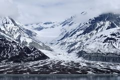 Vallée de compartiment de glacier Photos libres de droits