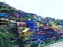 vallée de couleur dans le benguet du Trinidad de La à baguio Image stock