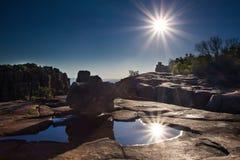Vallée de désolation en parc national de Camdeboo près de Graaff-Reine photo libre de droits
