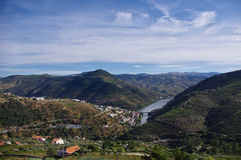 Vallée de Douro au Portugal Photographie stock libre de droits