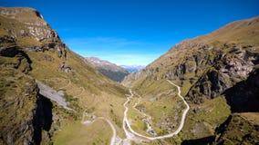Vallée de Grimentz de Barrage de Moiry Valais, Suisse images stock
