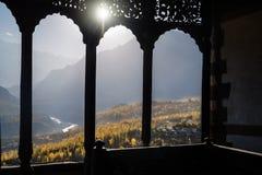 Vallée de Hunza en automne image libre de droits