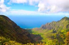 Vallée de Kalalau Photos stock