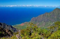 Vallée de Kalalau, côte de Napali, Kauai Image stock