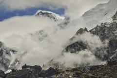 Vallée de Khumbu de Gorak Shep l'Himalaya, Népal Image libre de droits