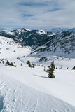 Vallée de l'hiver Photos stock
