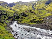 Vallée de l'Islande Photo libre de droits