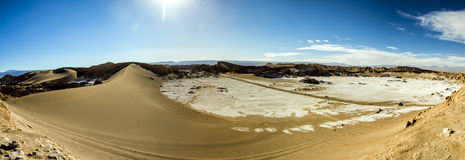 Vallée de la lune, désert d'Atacama, Chili Images libres de droits