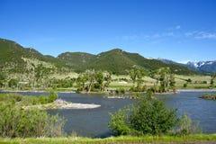 Vallée de la rivière Yellowstone Image libre de droits