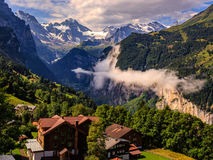 Vallée de Lauterbrunnen Photographie stock