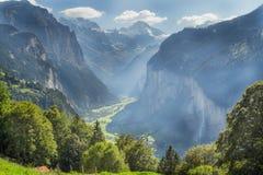 Vallée de Lauterbrunnen, Berne, Suisse photographie stock libre de droits