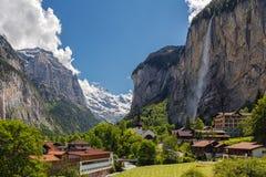 Vallée de Lauterbrunnen en Suisse Photo libre de droits
